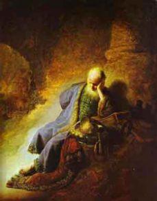 הנביא ירמיהו מתאבל על חורבנה של ירושלים (רמברנדט, 1630)